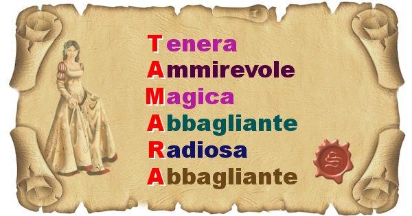 Tamara - Significato letterale del nome Tamara