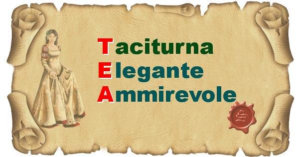 Tea - Significato letterale del nome Tea