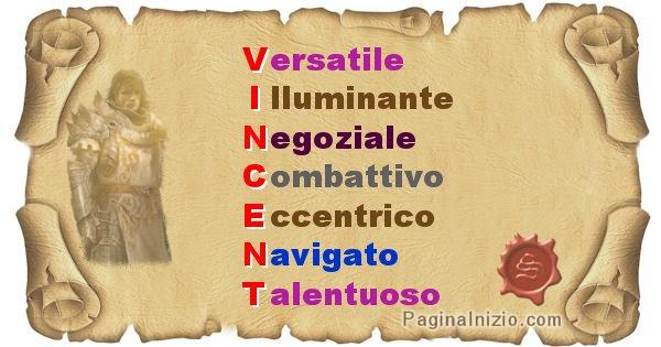 Vincent - Significato letterale del nome Vincent