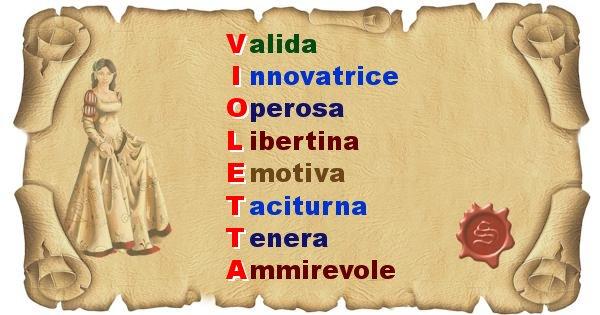 Violetta - Significato letterale del nome Violetta