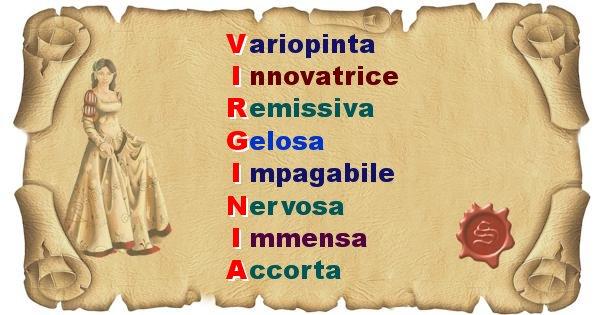 Virginia - Significato letterale del nome Virginia
