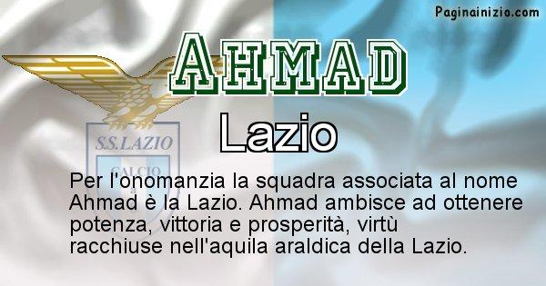 Ahmad - Squadra associata al nome Ahmad