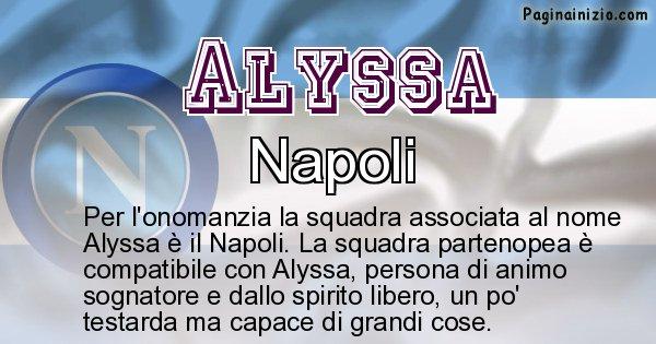 Alyssa - Squadra associata al nome Alyssa