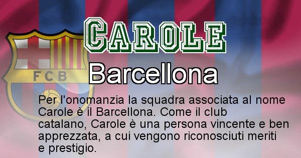 Carole - Squadra associata al nome Carole