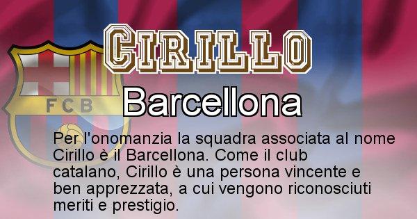Cirillo - Squadra associata al nome Cirillo