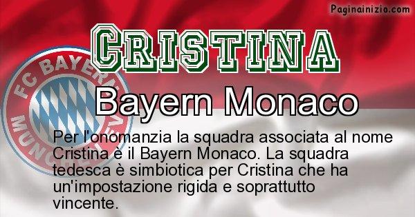 Cristina - Squadra associata al nome Cristina