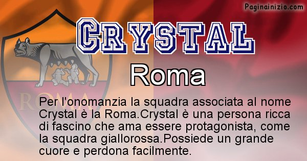 Crystal - Squadra associata al nome Crystal