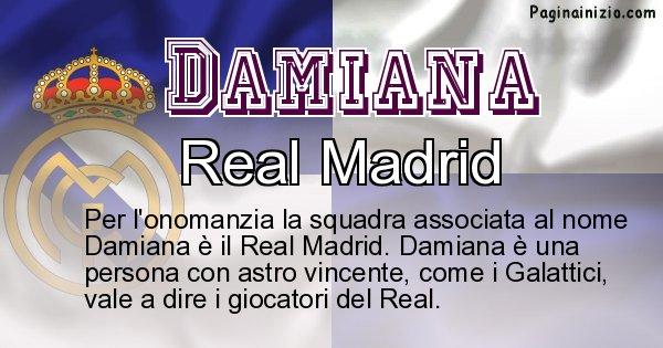 Damiana - Squadra associata al nome Damiana