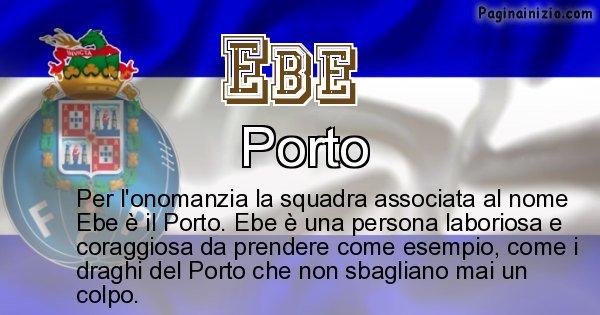Ebe - Squadra associata al nome Ebe