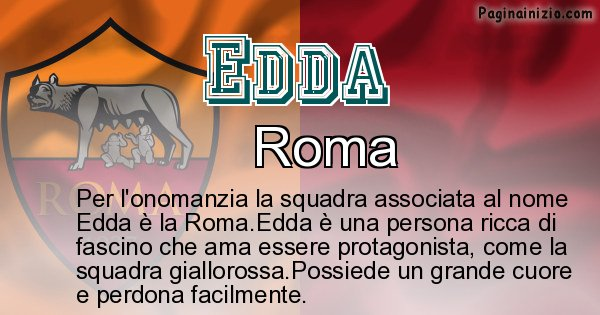 Edda - Squadra associata al nome Edda