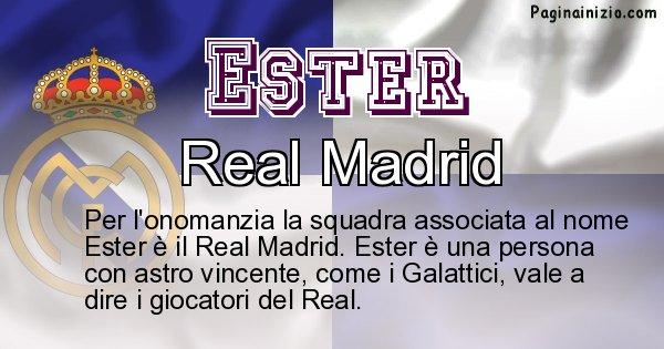 Ester - Squadra associata al nome Ester