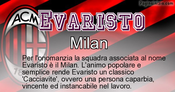 Evaristo - Squadra associata al nome Evaristo