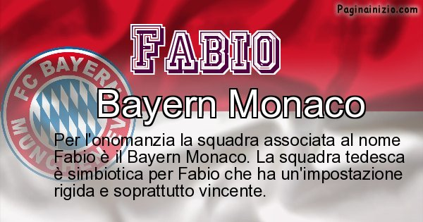 Fabio - Squadra associata al nome Fabio