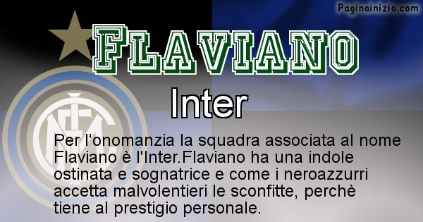 Flaviano - Squadra associata al nome Flaviano