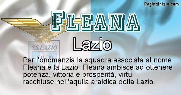 Fleana - Squadra associata al nome Fleana