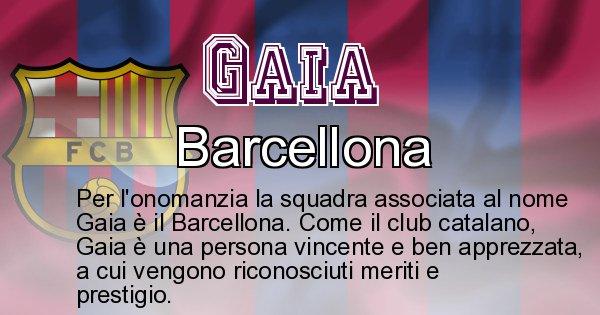 Gaia - Squadra associata al nome Gaia