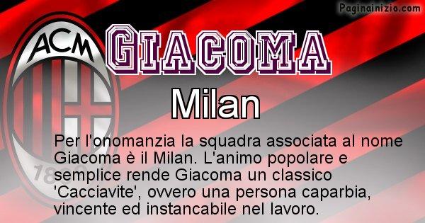 Giacoma - Squadra associata al nome Giacoma