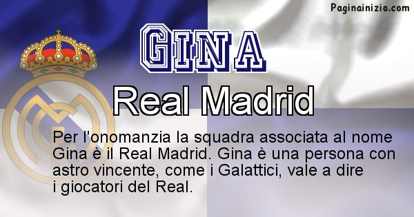 Gina - Squadra associata al nome Gina