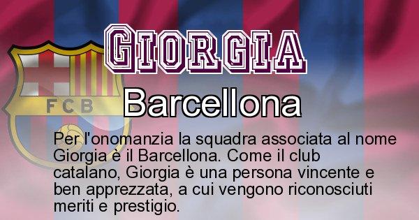 Giorgia - Squadra associata al nome Giorgia