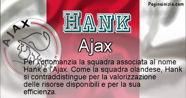 Hank - Squadra associata al nome Hank