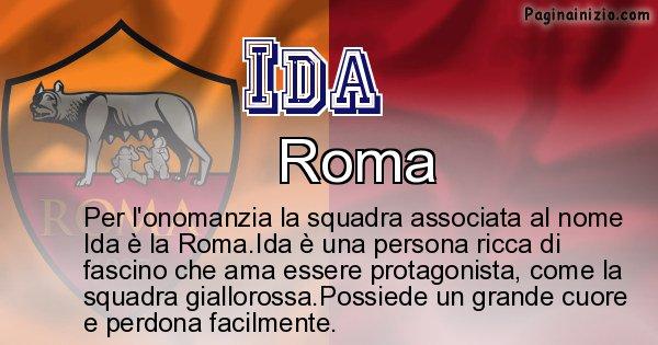 Ida - Squadra associata al nome Ida