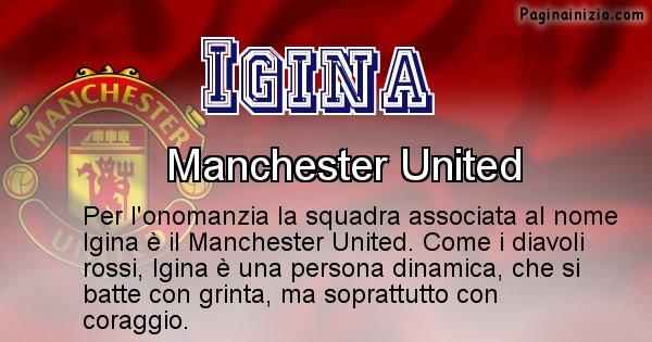 Igina - Squadra associata al nome Igina