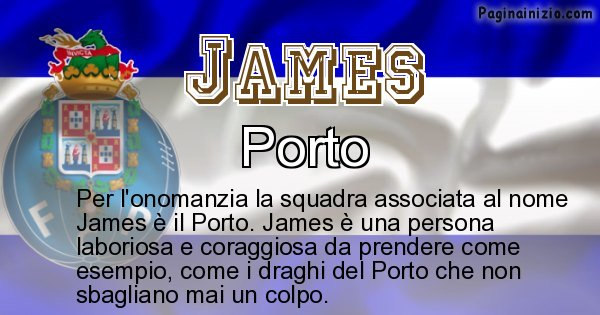 James - Squadra associata al nome James