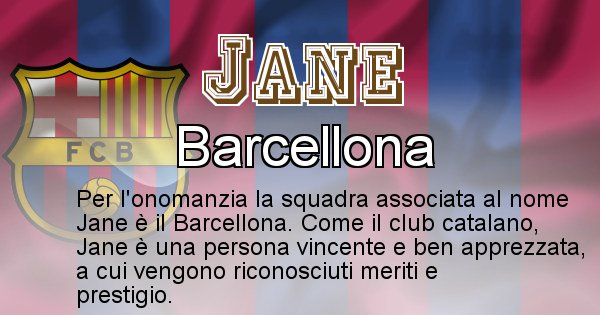 Jane - Squadra associata al nome Jane