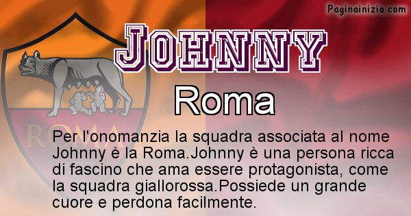 Johnny - Squadra associata al nome Johnny