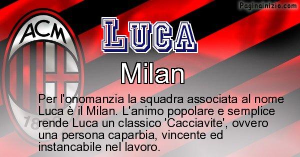 Luca - Squadra associata al nome Luca
