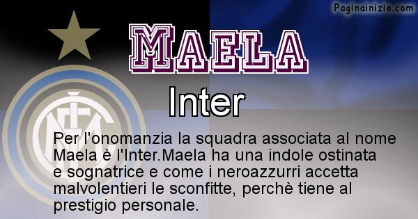 Maela - Squadra associata al nome Maela