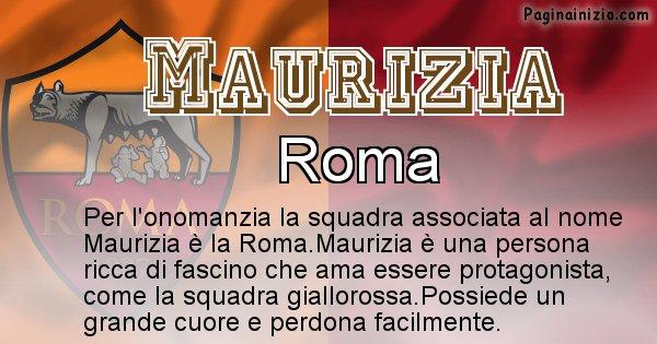 Maurizia - Squadra associata al nome Maurizia