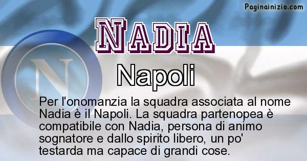 Nadia - Squadra associata al nome Nadia