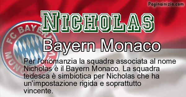 Nicholas - Squadra associata al nome Nicholas