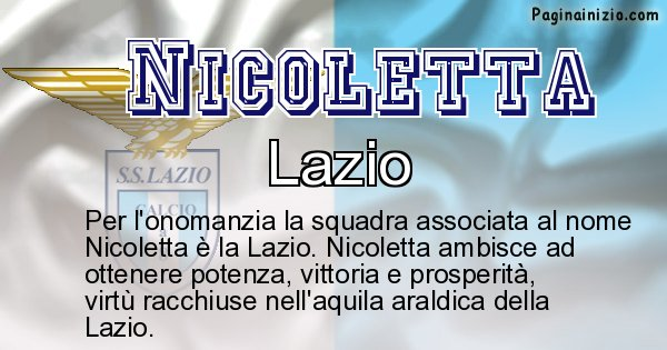 Nicoletta - Squadra associata al nome Nicoletta