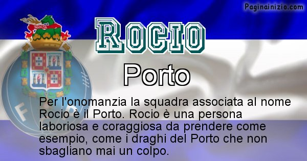 Rocio - Squadra associata al nome Rocio