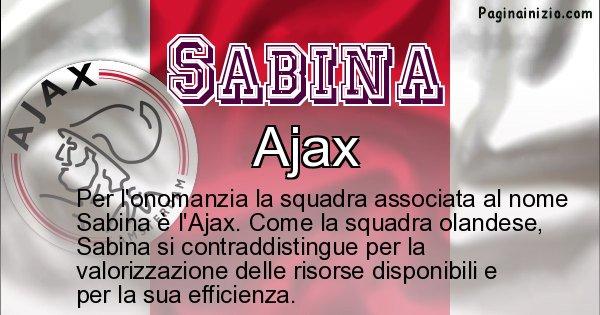Sabina - Squadra associata al nome Sabina