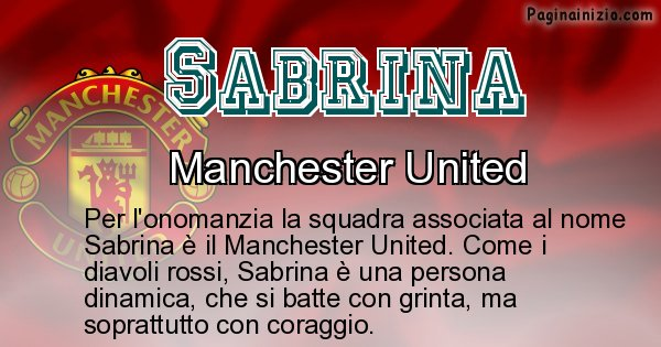 Sabrina - Squadra associata al nome Sabrina
