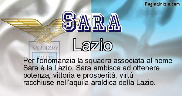 Sara - Squadra associata al nome Sara