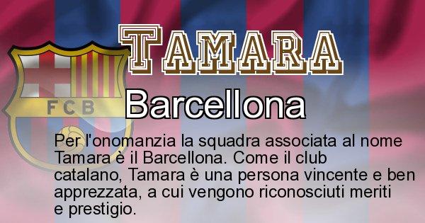 Tamara - Squadra associata al nome Tamara
