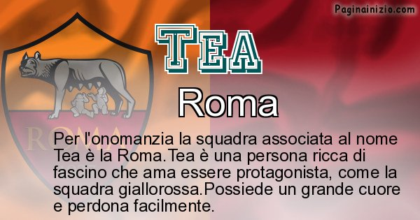 Tea - Squadra associata al nome Tea