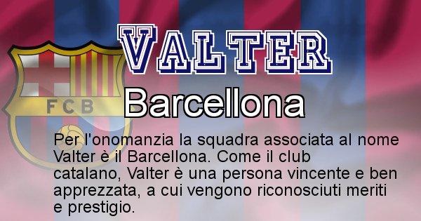 Valter - Squadra associata al nome Valter