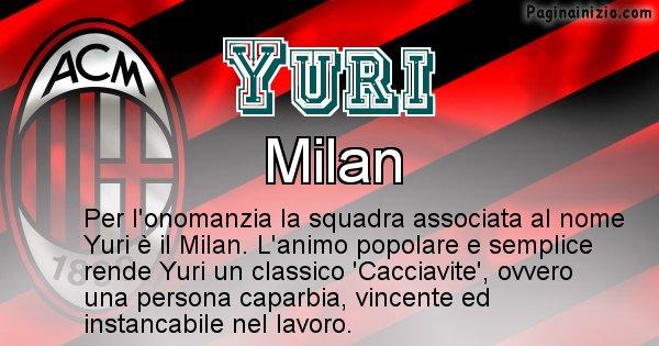 Yuri - Squadra associata al nome Yuri