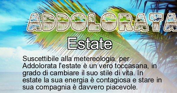 Addolorata - Stagione associata al nome Addolorata