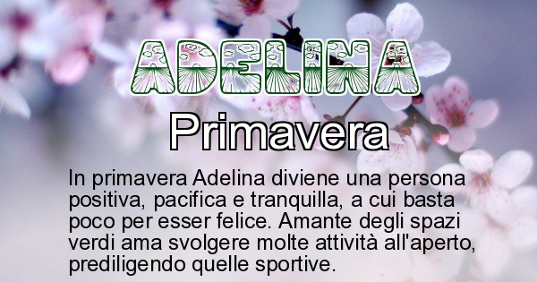 Adelina - Stagione associata al nome Adelina