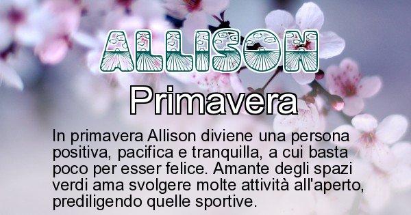Allison - Stagione associata al nome Allison