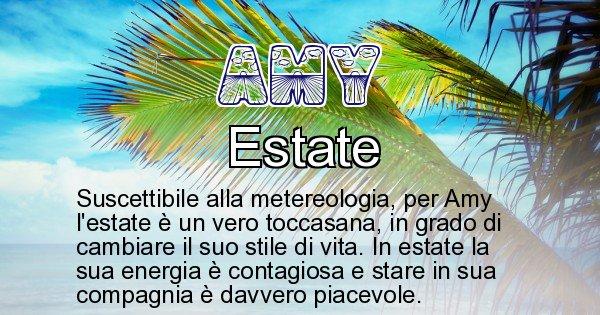 Amy - Stagione associata al nome Amy