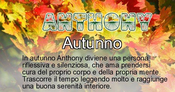 Anthony - Stagione associata al nome Anthony