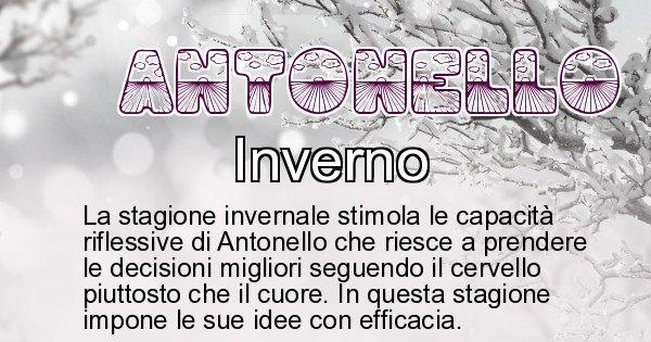 Antonello - Stagione associata al nome Antonello