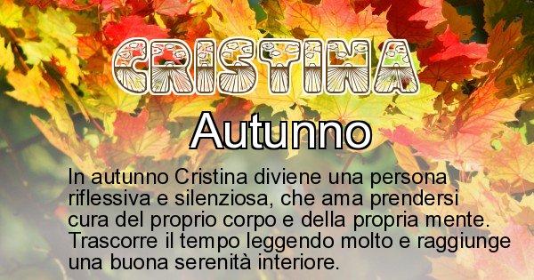 Cristina - Stagione associata al nome Cristina